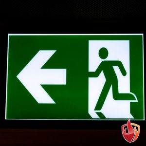 emergency exit - this way out lit signs for businesses, alarmpro